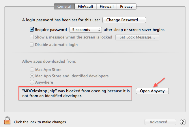 My Docs Online FAQ » MDOdesktop jnlp can't be opened because