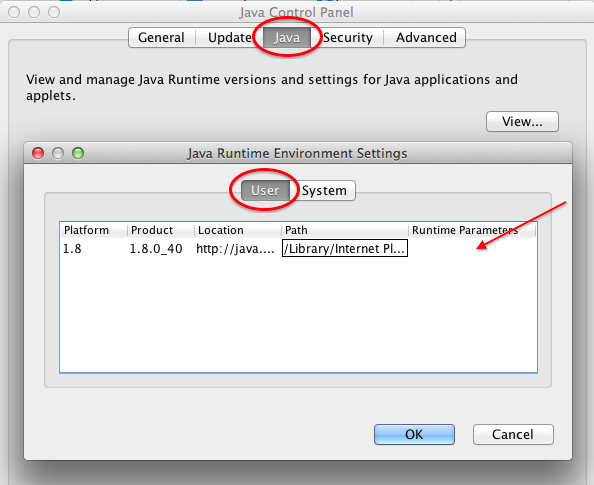 runtime java update