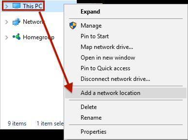 Start-ThisPC-AddNetworkLocation